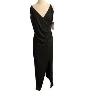 Emerald Sundae Dress Black Maxi Ruched 3X NEW